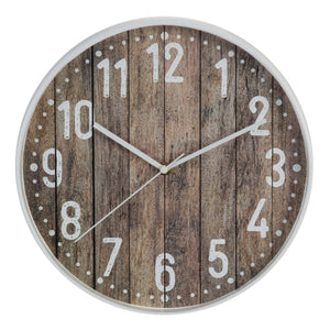 Hometime Plastic Case Wall Clock White Egde 30.5cm - W7580