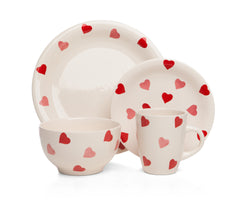 Sabichi 16pcs Hearts Stoneware Dinner set- 172792 - Homely Nigeria