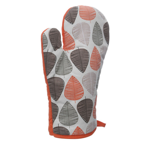 PREMEIR ORANGE LEAF SINGLE OVEN GLOVE - 5100158