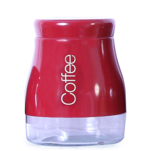 Sabichi Red Coffee Canister-163851 - Homely Nigeria