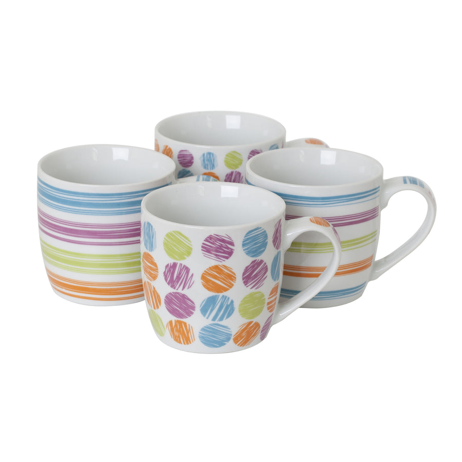 Sabichi 4pc Skittle Mug Set-107350 - Homely Nigeria