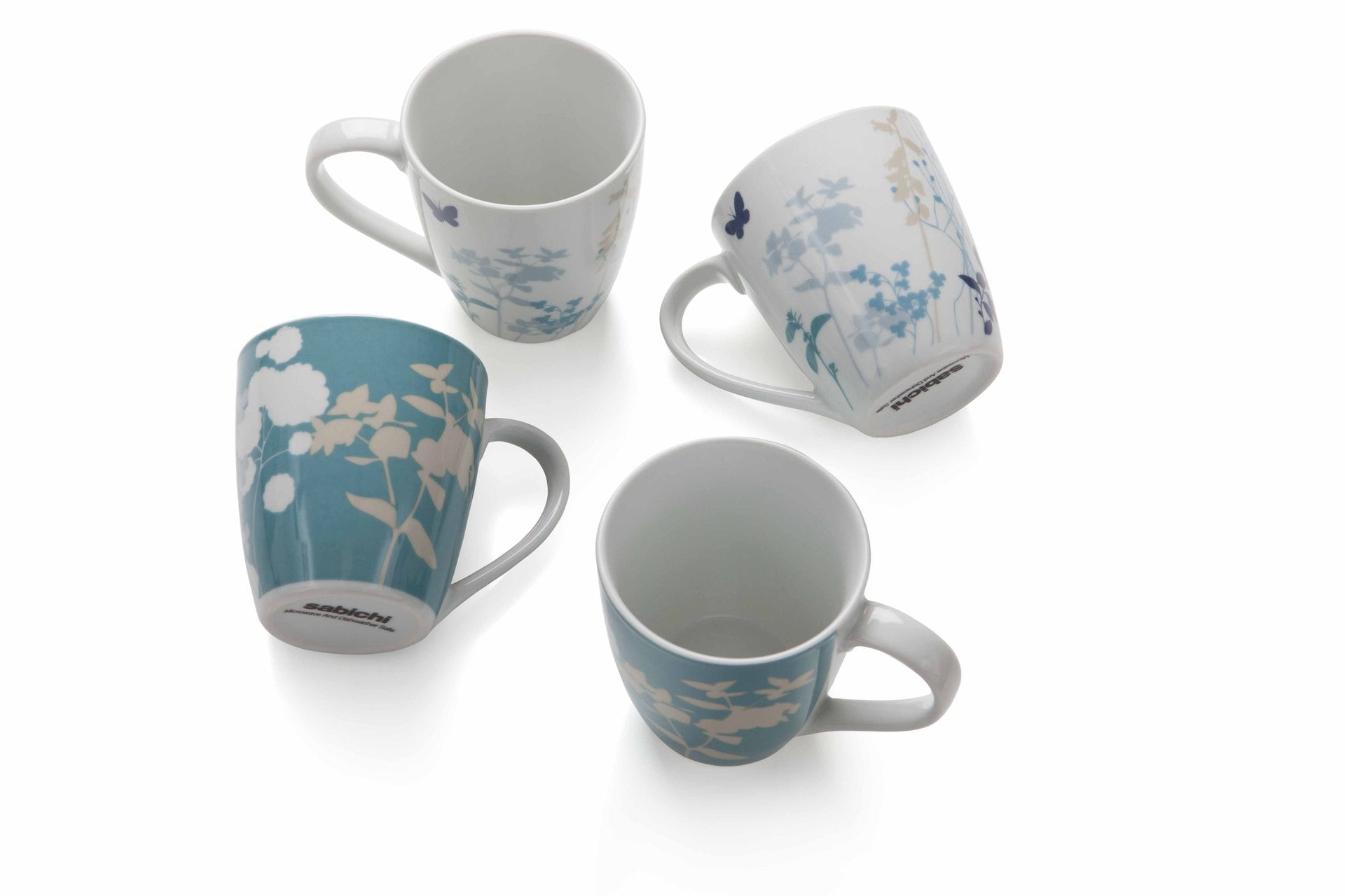 Sabichi 4Pcs Meadow Porcelain Mug Set- 172846 - Homely Nigeria