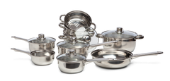 SABICHI 9PC STAINLESS STEEL COOKWARE SET -173652 - Homely Nigeria