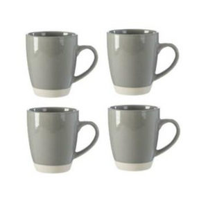 Premier Middag Set Of 4 Grey And Natural Mugs - 0723130