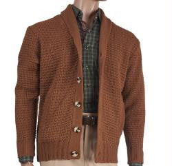 Cardigan Sweater Rust
