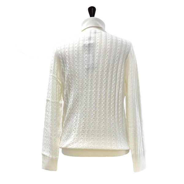 Prestige Cable Turtleneck Cream