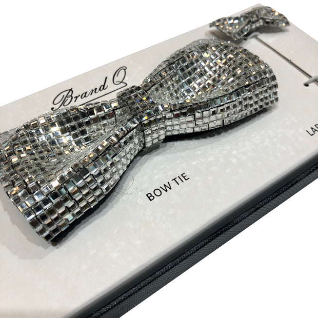 Brand Q Crystal Solid Bow Tie