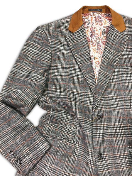 Wool Grey/Rust Blazer
