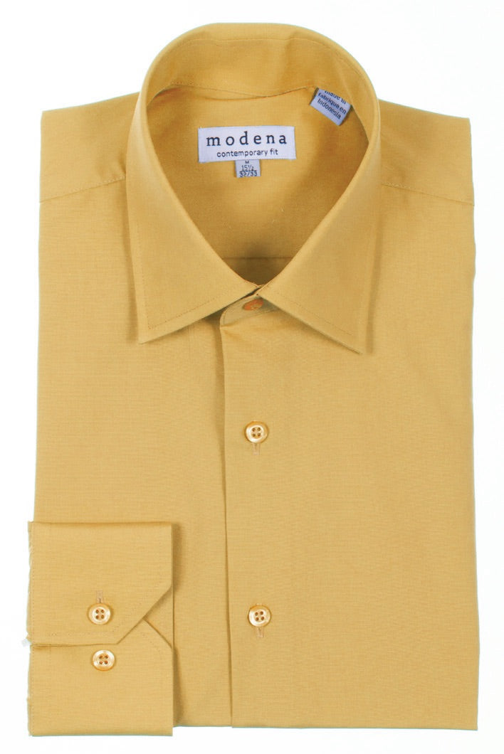 Modena Gold Contemporary Fit Men's Dress Shirt