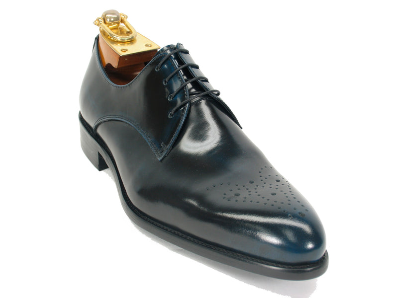 Carrucci Shoe Burnished Leather Navy 47904