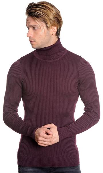 LCR Turtleneck (Burgundy Slim Fit)
