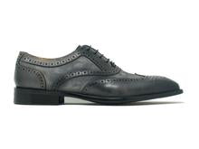 Carrucci Gray Mixed Media Leather Oxford 50925sc