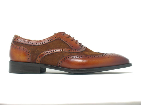 Carrucci Cognac Mixed Media Leather Oxford 50925sc