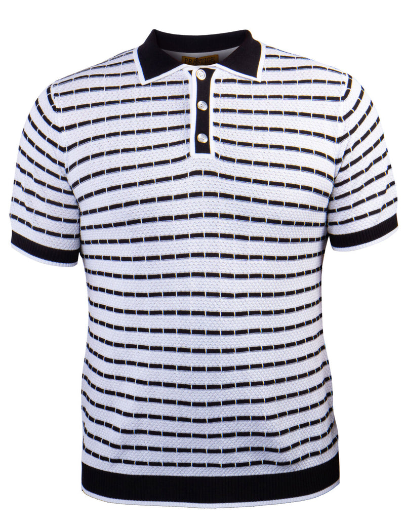 Prestige Polo Knit (White/Black) 010