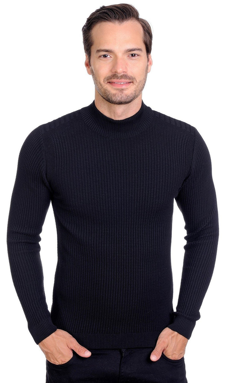 LCR Mockneck (Black Slim Fit )
