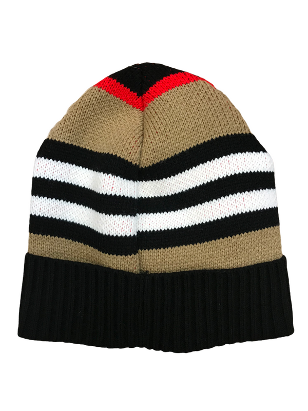 Burb Beanie Hat (Black/Tan/Red)