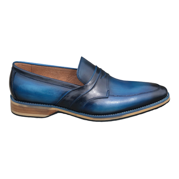 Steven Land Slip On Loafer (Blue) SL0100