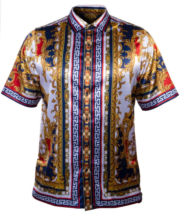 Prestige Printed Luxury Shirt Navy101