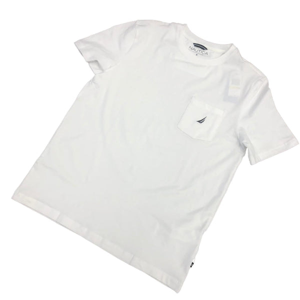 Nautica Logo Pocket TShirt White