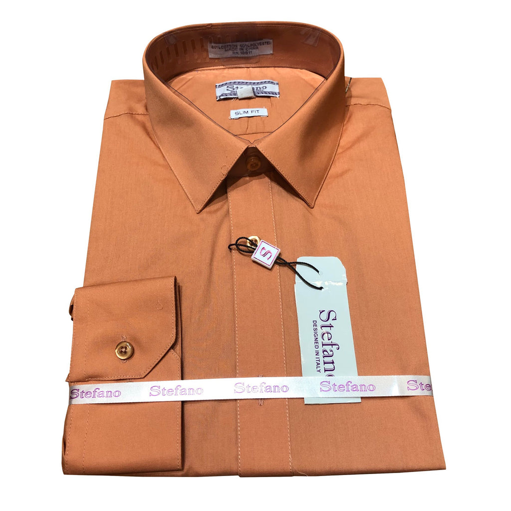 STEFANO SLIM FIT RUST