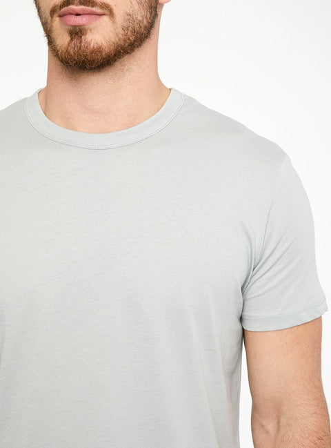 Momento Curved Supima T-Shirt Quarry