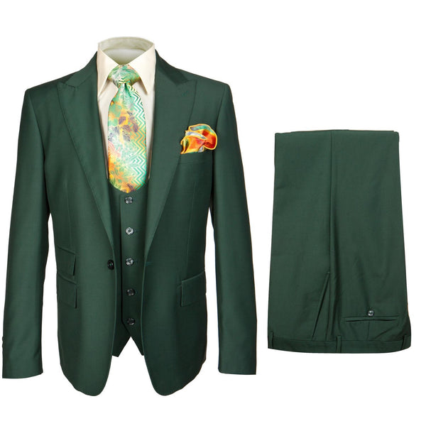 Rossi Man 3pc Suit Green