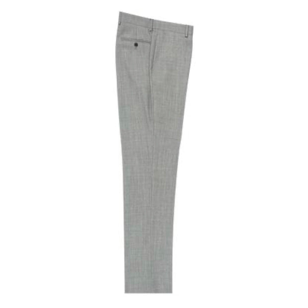 Tiglio Wool Dress Pant Birdseye Gray Flat Front