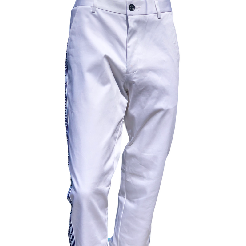 Prestige Greek Key Cotton Jean (White/Black)