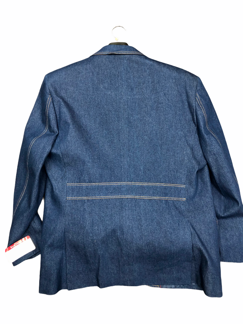 Royal Diamond Denim Suit (Blue) 3pc