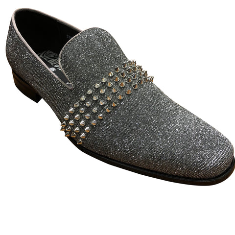 Mens Loafer gunmetal/slv6787