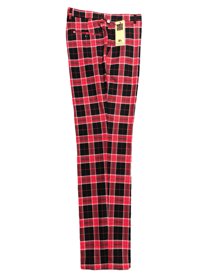 Prestige Plaid Pant (Black/Red)