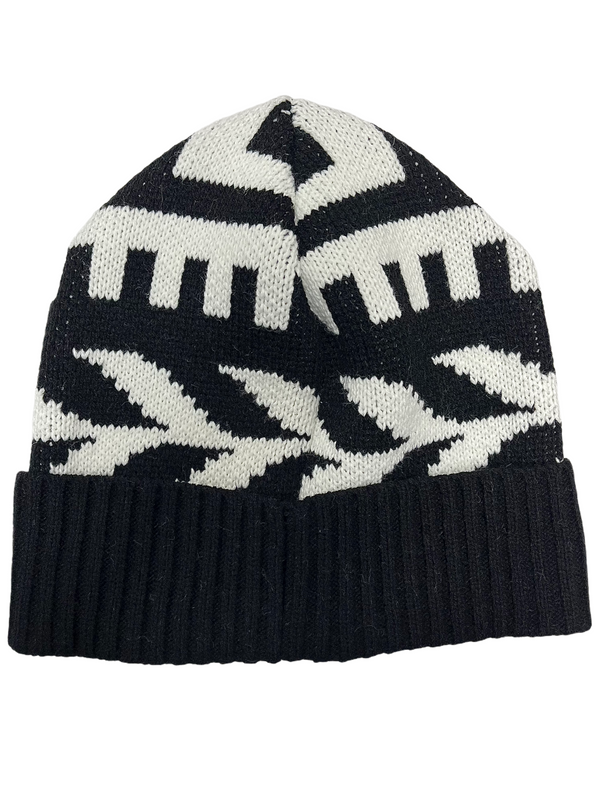 Aztek2 Beanie Hat (Black/White)