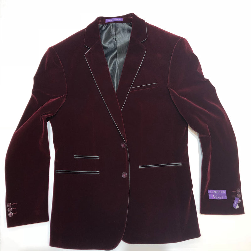 Vinci Blazer Slim Fit Burgundy