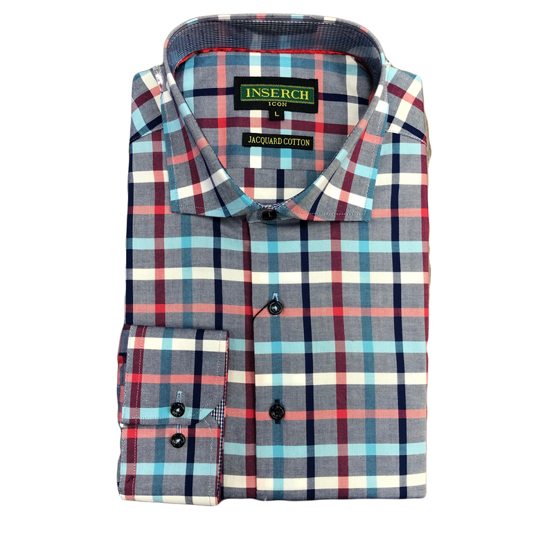 Inserch Plaid Shirt Multicolor