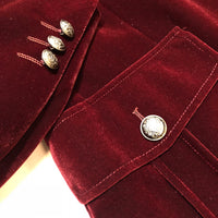 Inserch Military Blazer Burgundy