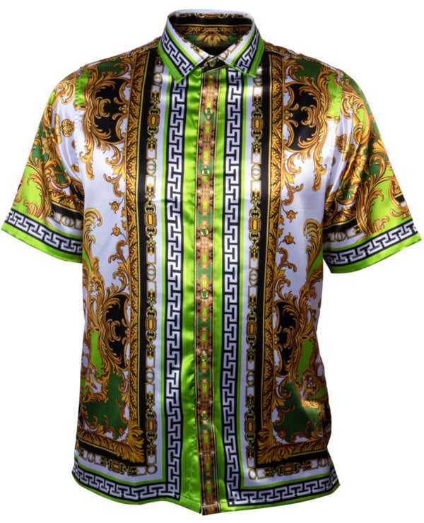 Printed Luxury Shirt Green101