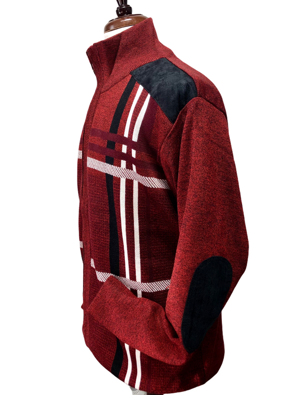 Inserch Sweater Full Zip (Red/Black/White)