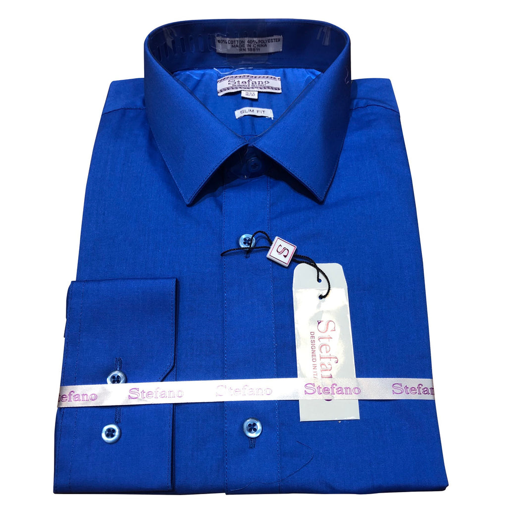 STEFANO SLIM FIT ROYAL BLUE