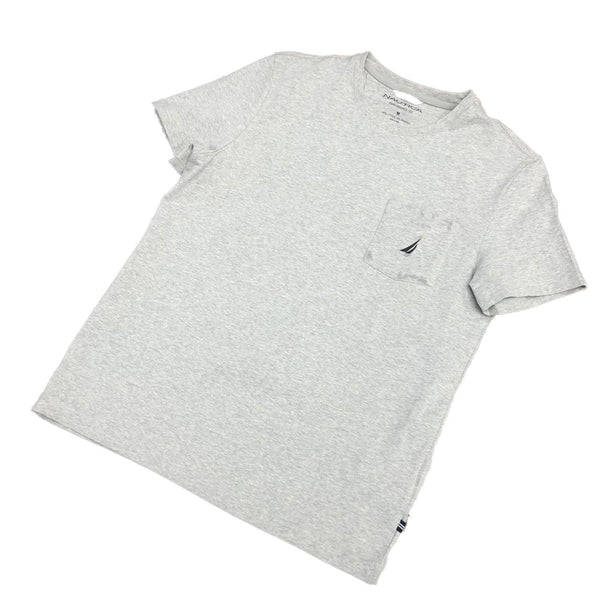 Nautica Logo Pocket TShirt Gray