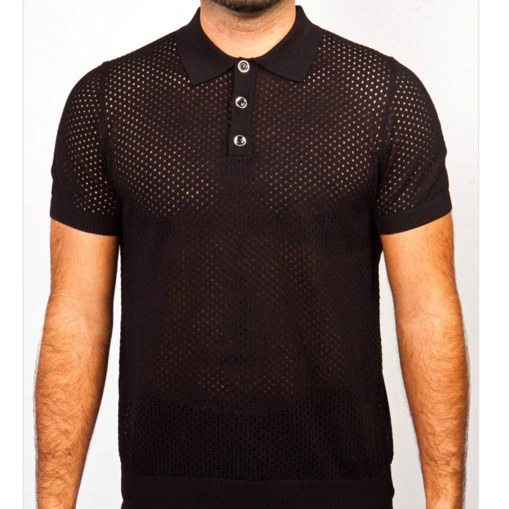 Prestige Polo Knit' Black911