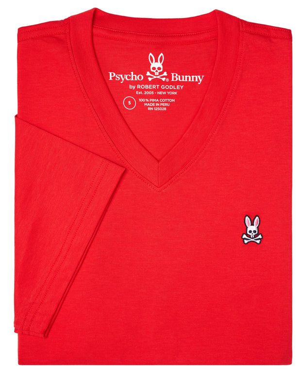 Psycho Bunny Big & Tall Classic Vneck Red