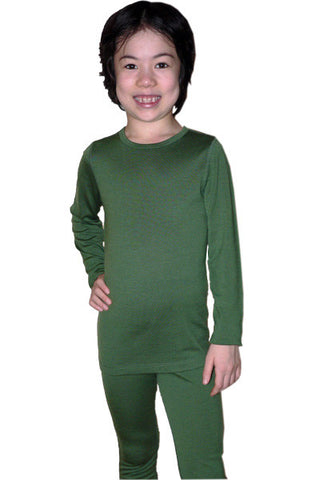 Kid's Merino in Green