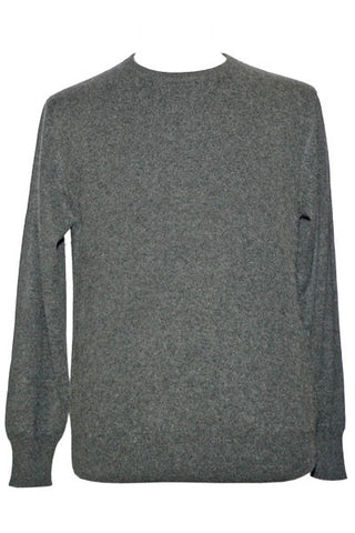 Men's Cashmere Crew in Charcoal Heather