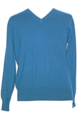 Men's Cashmere V in Marina Blue