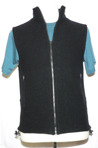 Men's Felted Merino Vest in in Black