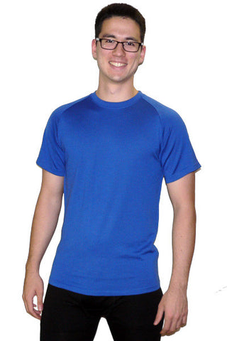 Men's Merino Short Sleeve Crew in Sea Port Blue