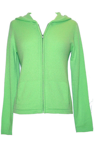 Women's Hoodie in Apple Green Heather