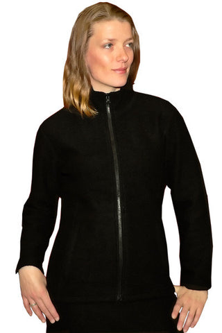 Women's Felted Merino Jacket in Black