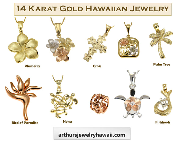 14k Hawaiian Jewelry Pendants Arthur S Jewelry