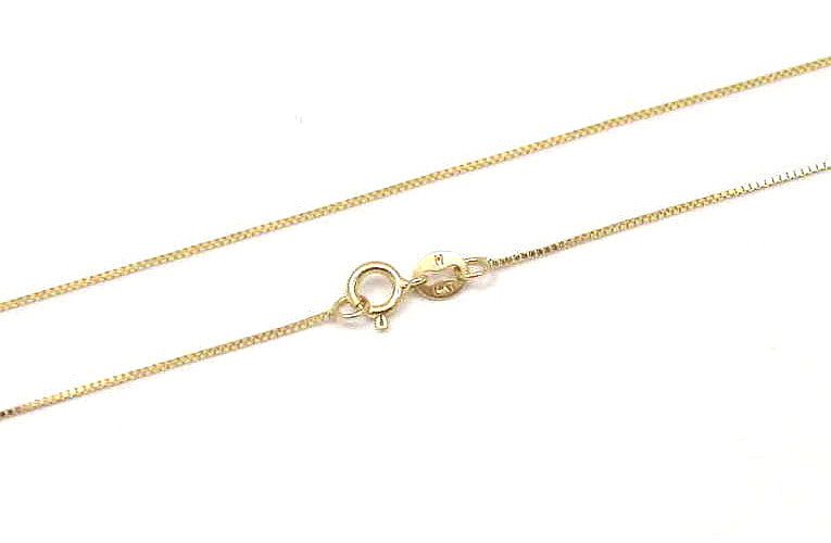 """Italy Solid 14k Yellow Gold Necklace Gold Chain Box 16/"""" 18/"""" 20/"""" 22/"""" 24/"""""""